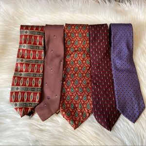 Christian Dior & Burberry Tie Bundle